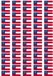 Georgia Flag Stickers - 65 per sheet